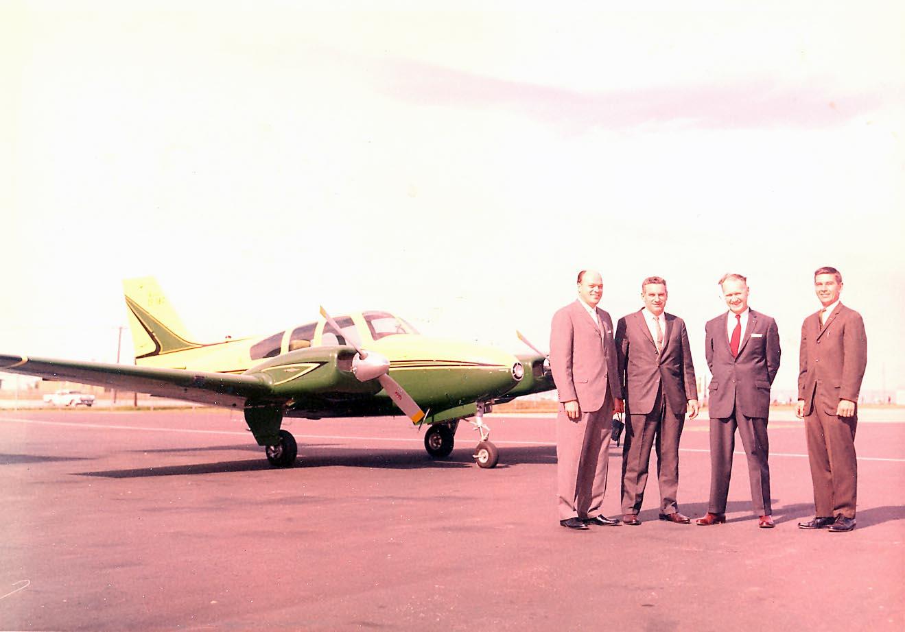 Baron CF-SBC (L-R) HT Hoy, Bill Atrill, Stan, LJ Markowski