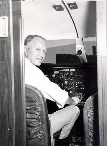 Stan in Lear Jet 1967